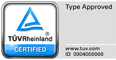 TÜV test mark 'Type Approved'